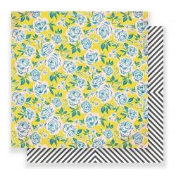 Лист двухсторонней бумаги Rose Park - Carousel - Crate Paper
