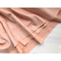 Замша на кожзаме - Персиковый, 25х29 см