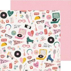 Лист бумаги Cute Stuff - All Heart -  Crate Paper