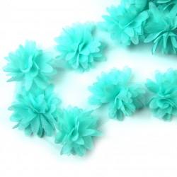 Шифоновые цветы 4см (1 шт.) - мятные