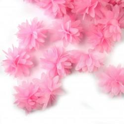 Шифоновые цветы 4см (1 шт.) - розовые