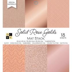 1/3 набора кардстока - Solid Rose Golds - DCWV