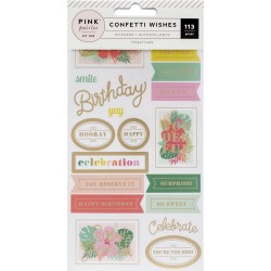 Sticker Book - Confetti Wishes - Pink Paislee