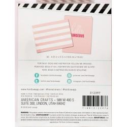 Набор конвертов - Pink Stripe - Heidi Swapp
