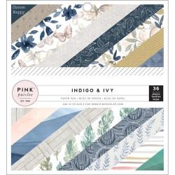 1/2 набора бумаги 15*15 - Indigo & Ivy - Pink Paislee