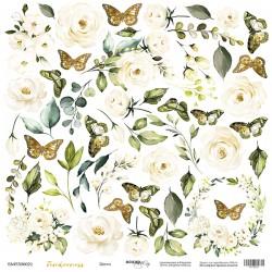 """Лист бумаги для вырезания """"Цветы"""" - Tenderness - Scrapmir"""