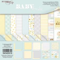 Набор двусторонней бумаги 20х20см - Smile Baby - Scrapmir