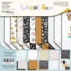 Набор двусторонней бумаги 20х20см - School Days - Scrapmir