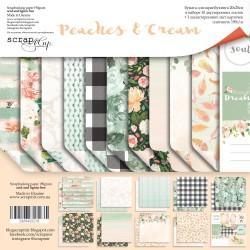 Набор двусторонней бумаги 20х20см - Peaches & Cream - Scrapmir