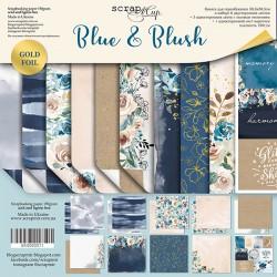 Набор двусторонней бумаги 30х30см - Blue & Blush - Scrapmir