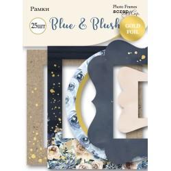 Рамки с фольгированием 25 шт - Blue & Blush - Scrapmir