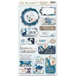 Чипборд - Blue & Blush (ENG) - Scrapmir