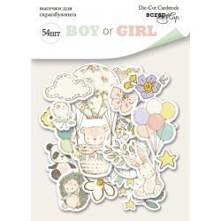 Высечки (54шт) - Boy or Girl - Scrapmir