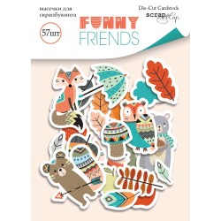 Высечки (57шт) - Funny Friends - Scrapmir