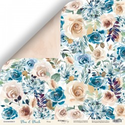 "Лист бумаги ""Розы"" - Blue & Blush - Scrapmir"