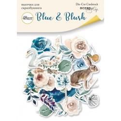 Высечки (48шт) - Blue & Blush - Scrapmir
