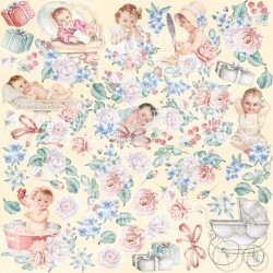 "лист для вырезания ""Shabby baby girl redesign"" - Фабрика Декору"