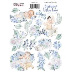 "Набор наклеек №073 -""Shabby baby boy redesign 1"" - Фабрика Декору"