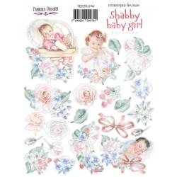 "Набор наклеек №074 - ""Shabby baby girl redesign"" - Фабрика Декору"