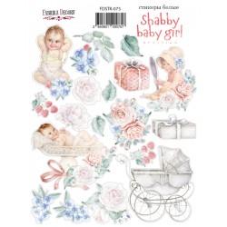 "Набор наклеек №075 - ""Shabby baby girl redesign 1"" - Фабрика Декору"