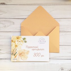 Подарочный сертификат на сумму 300 грн (в конверте)