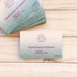 Подарочный сертификат на сумму 300 грн (пластиковая карта)