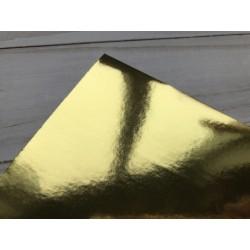 Бумага самоклейка, 15х25 см - Gloss Gold (жёлтое золото)