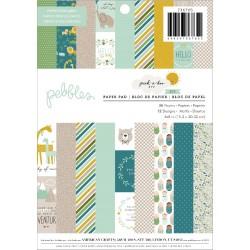 1/3 набора бумаги (12 листов) - Peek-A-Boo You Girl - Pebbles