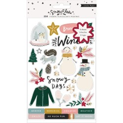 Стикербук (250 наклеек) - Snowflake - Crate Paper