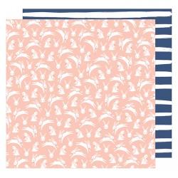 Лист бумаги Bunny Love - Dear Lizzy Lovely Day - American Crafts