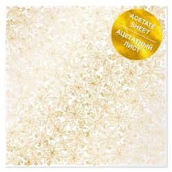Ацетатный лист 30х39 см - Golden Poinsettia - Фабрика Декору