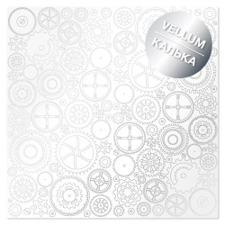 Калька (веллум) 30х30 см - Silver gears - Фабрика Декору