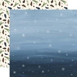 Лист бумаги Snowy Sky - Warm & Cozy - Carta Bella