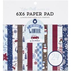 1/2 набора бумаги 15х15 (12 л) - My Favorite Winter - Echo Park