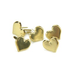 Брадсы, 5 шт - Gold Hearts - Creative Impressions