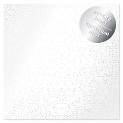 Ацетатный лист - Silver mini drops - Фабрика Декору