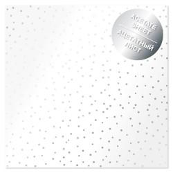 Ацетатный лист - Silver drops - Фабрика Декору