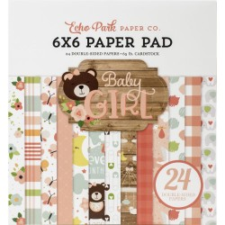 1/2 набора бумаги (12 л) - Baby Girl - Echo Park