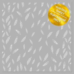 Ацетатный лист 30х30 см - White Feather - Фабрика Декору