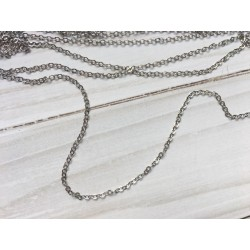 Цепочка 1,5 мм (тёмное серебро) - 10 см