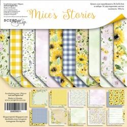 Набор бумаги 30х30 см - Mice's Stories - Scrapmir