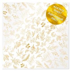 Аацетатный лист - Golden branches - Фабрика Декору