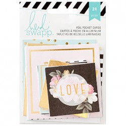Карточки Gold Foil Pocket Cards (24) - Heidi Swapp