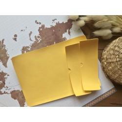 Заготовка для обложки на паспорт - Жёлтый матовый