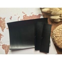 Заготовка для обложки на паспорт - Чёрный глянцевый