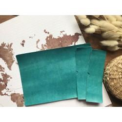 Заготовка для обложки на паспорт - Бирюзовый глянцевый