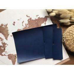 Заготовка для обложки на паспорт - Синий матовый