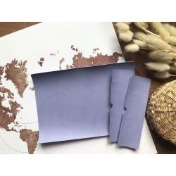 Заготовка для обложки на паспорт - Фиолетовый матовый