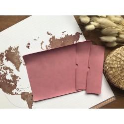 Заготовка для обложки на паспорт - Пепельно-розовый матовый