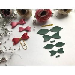 Заготовка для бантика, 2 шт - Зелёный матовый